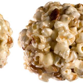 Eggnog Popcorn Balls