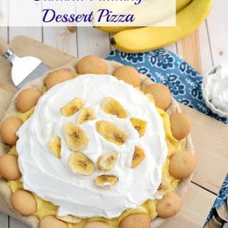 Banana Pudding Dessert Pizza