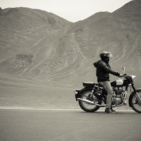 Biker by Mangesh Jadhav - Transportation Motorcycles ( rider, guy, royal, biker, enfield )