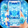 Snowflakes Keyboard Background