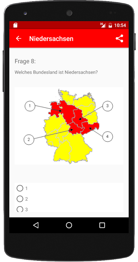Einbürgerungstest NI 2017 – Screenshot