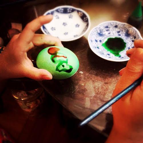 easter egg, painted, dye, handmade, homemade, kid project, hong kong, 手繪, 復活節, 彩蛋