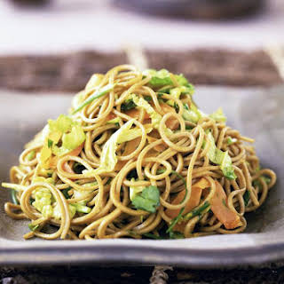 Japanese Fried Noodles with Pork and Vegetables.