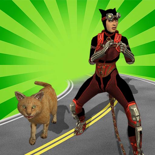 Multi Cat Girl VS Super Villains
