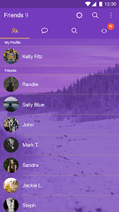 Purple Theme for KakaoTalk- screenshot thumbnail