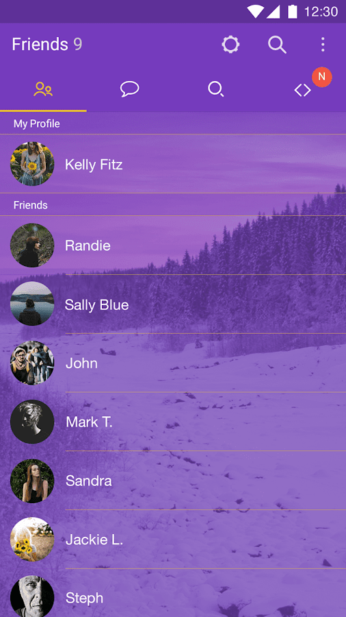 Purple Theme for KakaoTalk- screenshot