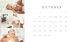 Baby Monthly - Monthly Calendar item