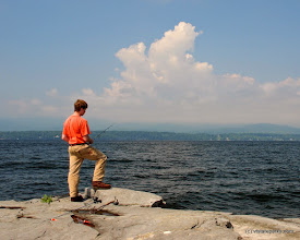 Photo: Fishing from shore at Grand Isle State Park