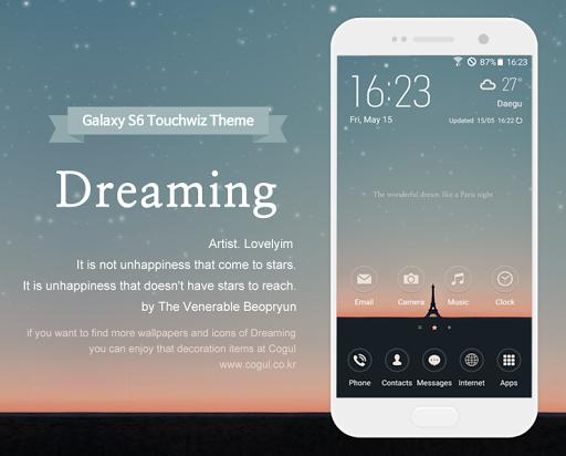 갤럭시S6 터치위즈 테마 - Dreaming