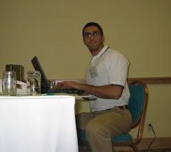 Photo: I was working every night on my presentation.