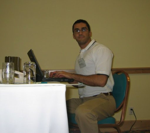 Photo: I was working every night on my presentation.