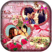 Valentine Day Photo Collage