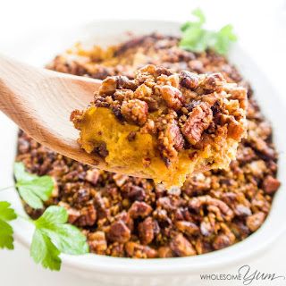 Pecan Roasted Better-Than-Sweet-Potato Casserole (Low Carb, Paleo)