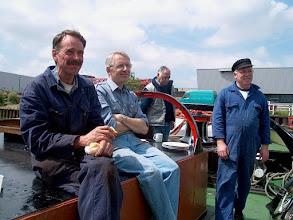 Photo: Genieten aan dek V.l.n.r. Evert, Dirk, Toon en Hans