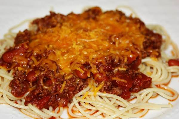 Chili  Spaghetti Recipe