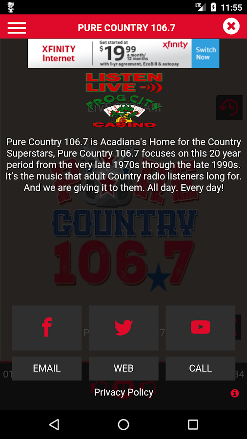 Pure Country 106.7- screenshot