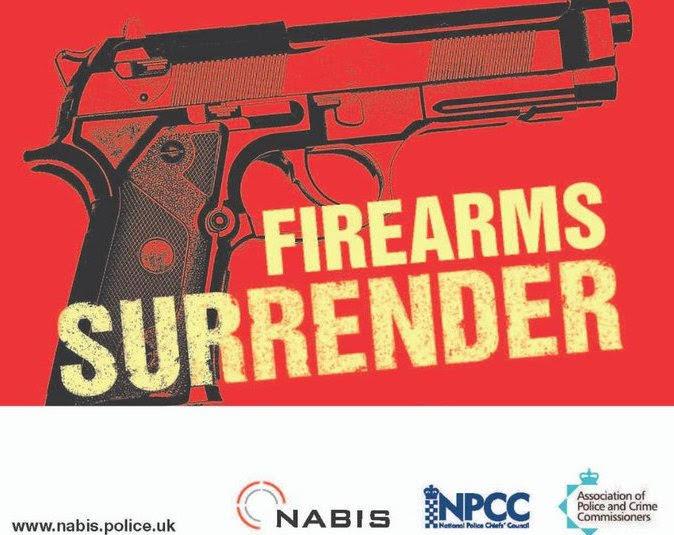 40 guns handed in