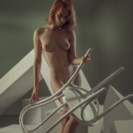 Chair by Dmitry Laudin - Nudes & Boudoir Artistic Nude ( studio, beauty, light, chair, model, nude, body, posing )