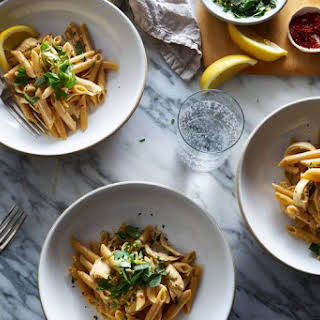 One-Pot Spicy and Creamy Chicken Pasta.