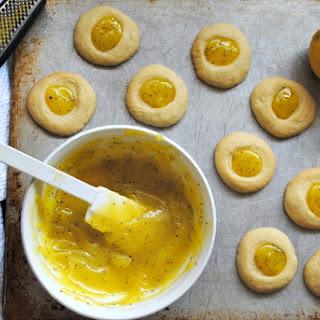 Lemon Poppy Seed Curd Thumbprint Cookies