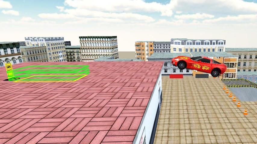 android Rooftop Car Stunts Screenshot 2