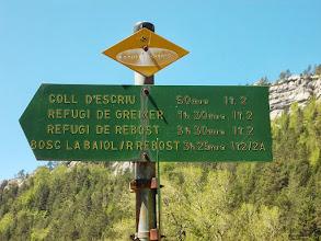 Photo: il semble  lointain déjà le refuge de Greixer ezt le Coll d'Escriu