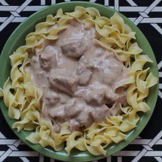 Crock-Pot Beef Stroganoff.