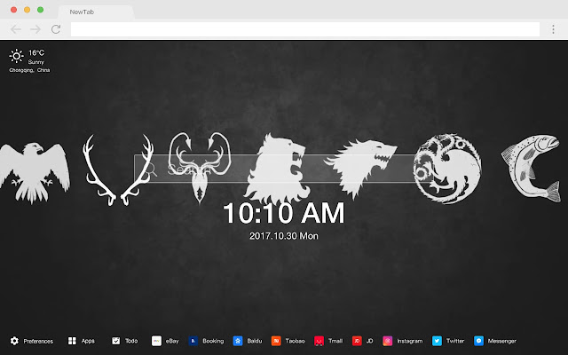 Game of Thrones New Tabs HD TV Dramas Theme
