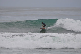 Photo: The surfer at the tip of Cabo Matapalo