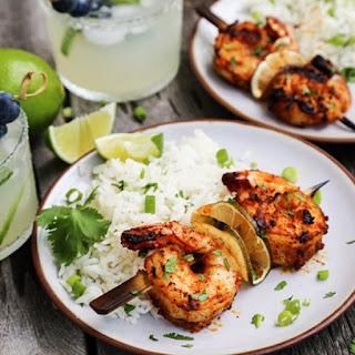 Grilled Margarita Shrimp Kebabs