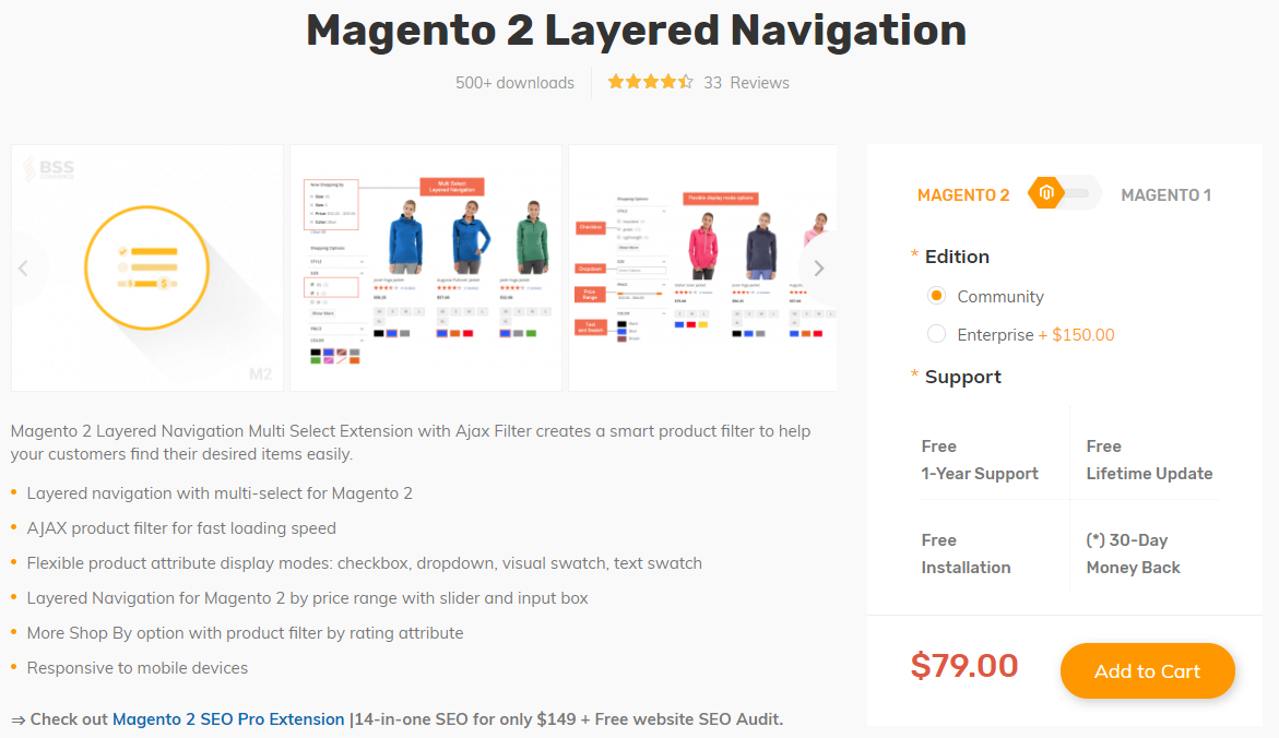 Magento 2 Layered Navigation by BSSCommerce