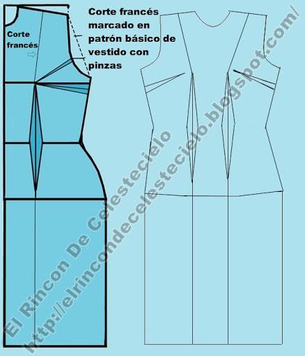Patrón de blusa convertida en vestido de falda recta