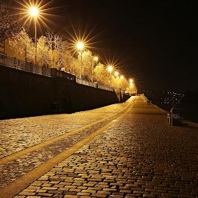 by Drahomír Škubna - City,  Street & Park  Night ( canon, night )
