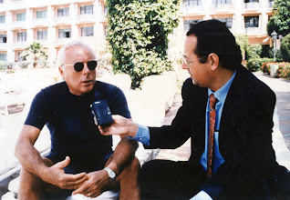 Photo: Amado Moreno entrevista a Giorgio Armani en el hotel La Malmounia de Marrakech (Marruecos)