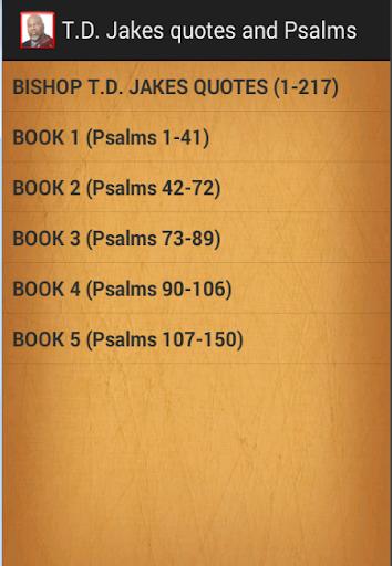 T.D. Jakes quotes Psalms