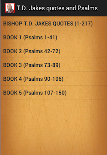 T.D. Jakes quotes & Psalms- screenshot thumbnail