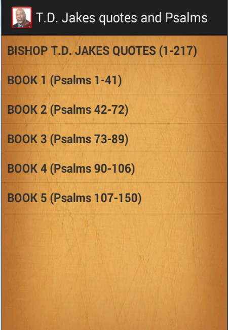 T.D. Jakes quotes & Psalms- screenshot