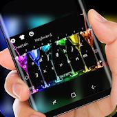Tải Neon Cocktail HD Wallpaper Glass Wine Keyboard miễn phí