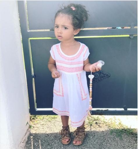Mini look fille robe Little cigogne