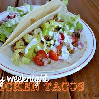 Easy Weeknight Chicken Tacos