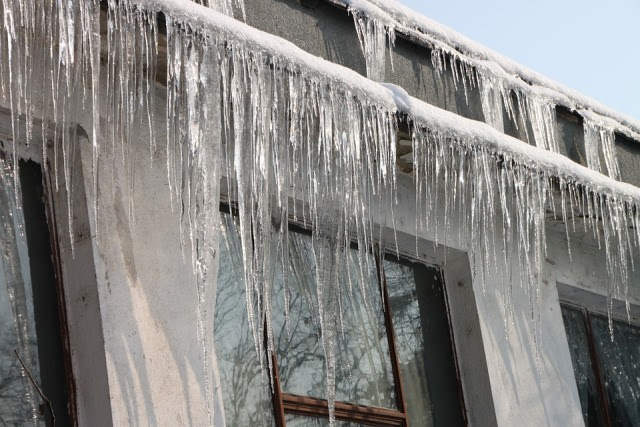 Cold, Hanging, Home, House, Icicles, Roof, Winter