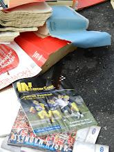Photo: Books, negatives, magazines remain.