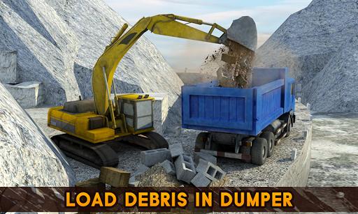 山挖掘机矿用卡车3D Construction Crane