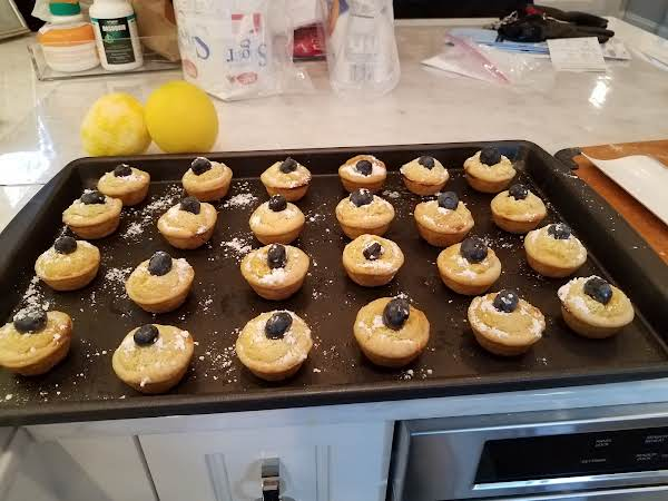 Patsy's Lemon Tassies With Blueberry On Top
