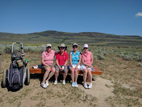 Photo: Gamble Sands - very hot day. Once you start, you have to play all 18. No. 9 does not come back to clubhouse.