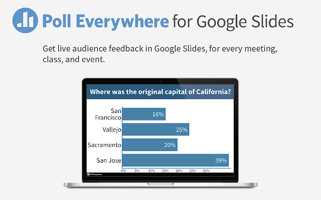 poll everywhere for google slides chrome web store