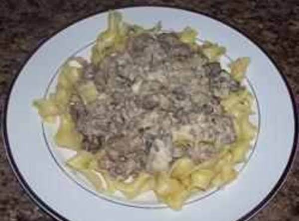 15 Minute Hamburger Stroganoff