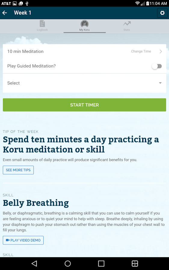 Koru Mindfulness- screenshot