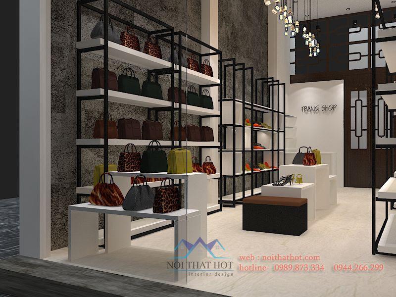 thiết kế cửa hàng túi xách, giày dép, phụ kiện