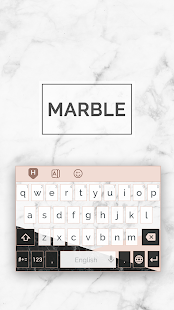 Beauty Marble Keyboard Theme - náhled